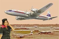 Самолет DC-7C Японские авиалинии