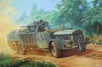 Военный автомобиль Sd.Kfz. Vomag с пушкой 8,8 cm Flak