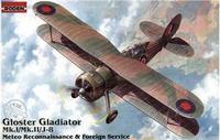 Британский биплан метеорологической разведки и дипломатической службы Gloster Gladiator