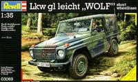 Сборная стендовая модель автомобиля LKw leicht gl WOLF