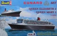 Подарочный набор с пароходами Queen Mary 2 / Queen Elizabeth 2