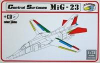 Набор аксессуаров: МиГ 23 управляющие поверхности