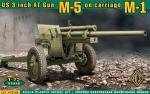 Американская 3 дюймовая противотанковая пушка М-5 на лафете от M-1