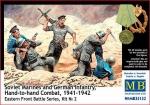 Советские морские пехотинцы и немецкая пехота 1941-1942 гг. Восточный фронт, набор 2