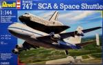 Космический корабль Спейс Шатл и пассажирский самолет Boeing 747