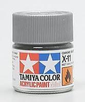 Акриловая краска 10мл Mini X-11 хром серебристый (глянцевая)