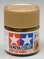 Акриловая краска 10мл Mini X-12 золотой лист (глянцевая)