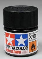Акриловая краска 10мл Mini X-18 полуматовый черный