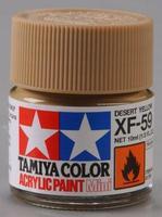 Акриловая краска 10мл Mini XF-59 пустынный желтый (матовая)