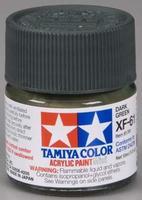 Акриловая краска 10мл Mini XF-61 темнозеленый (матовая)