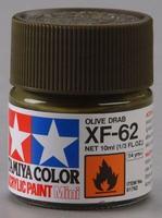 Акриловая краска 10мл Mini XF-62 оливковый драб (матовая)