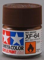 Акриловая краска 10мл Mini XF-64 красно-коричневый (матовая)