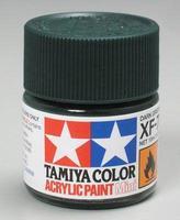 Акриловая краска 10мл Mini XF-70 темнозеленый 2 (матовая)