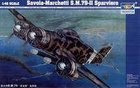 Итальянский бомбардировщик Савойя Марчетти SM.79-II Sparviero
