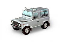 Автомобиль Land Rover Defender 90 (серебро)
