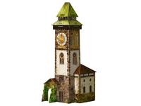 Игровой набор из картона: Башня с часами