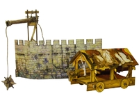 Сборная действующая игрушка из переплетного картона Таран