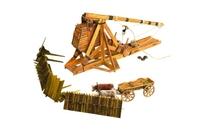 Сборная действующая игрушка из переплетного картона Требушет
