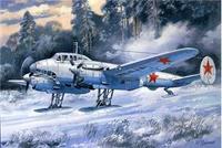 Пикирующий бомбардировщик Пе-2 серия 55 (лыжная версия)