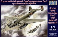 Cоветский пикирующий бомбардировщик с установкой ФТ (серий 87)