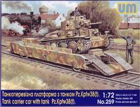 Танкоперевозящая платформа с танком Pz.Kpfw 38(t)