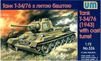 UM326 T-34-76 WW2 Soviet medium tank, 1943