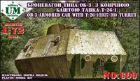 UMT609 OB-3 armored railway car with T-26-1 turret