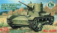 Сборная модель танк T-26 образца 1933г