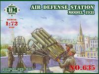 Пластиковая модель зенитной пулемётной установки 1931