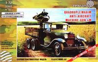 ГАЗ-ААА с четверённой зенитной установкой пулемётов Максим
