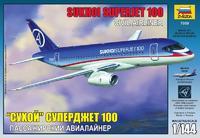 """Модель самолета """"Сухой"""" суперджет 100 из пластика"""