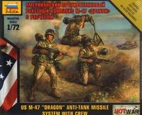 """Американский противотанковый ракетный комплекс М-47 """"Дракон"""" с расчетом"""