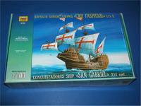 Корабль конкистадоров Сан Габриэль XVI в.