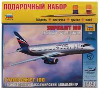 Подарочный набор с моделью самолета Суперджет 100