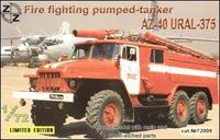AZ-40 Ural-375 fire fighting pumped-tanker