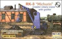 ZZ87024 PK-3 Michurin crawler rotary crane with greifer